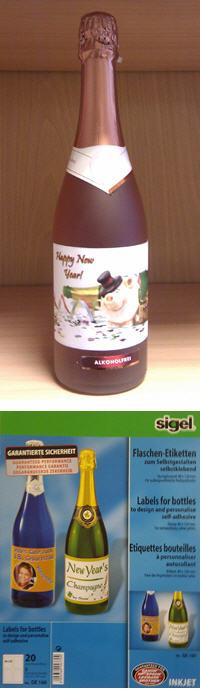 Sigel Flaschen Etiketten
