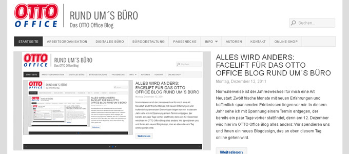 Relaunch OTTO Office Böroblog