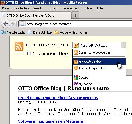 RSS Feed im Firefox