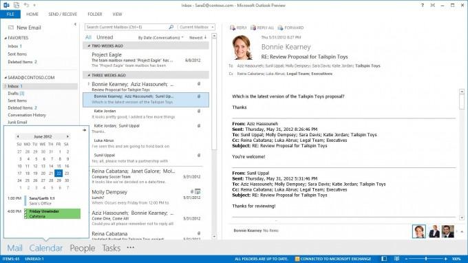 Termine, Kontakte und Aufgaben in Outlook Office 2013