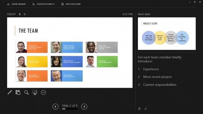 Powerpoint 2013 mit Spickzettel-Funktion