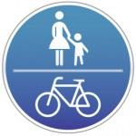 Piktogramm Fußweg | Radweg