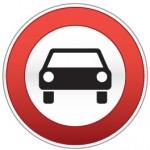 Piktogramm Autos verboten