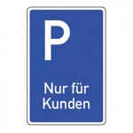 Piktogramm Parken nur für Kunden