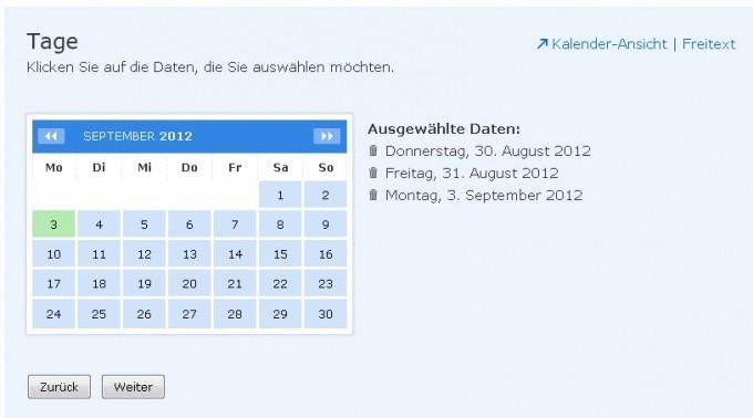 Doodle Kalenderansicht
