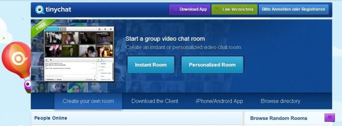 Videokonferenz - Instant Room in Tinychat
