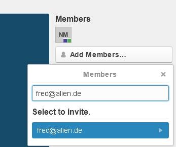 Trello Projektmanagement - Mitglieder hinzufügen