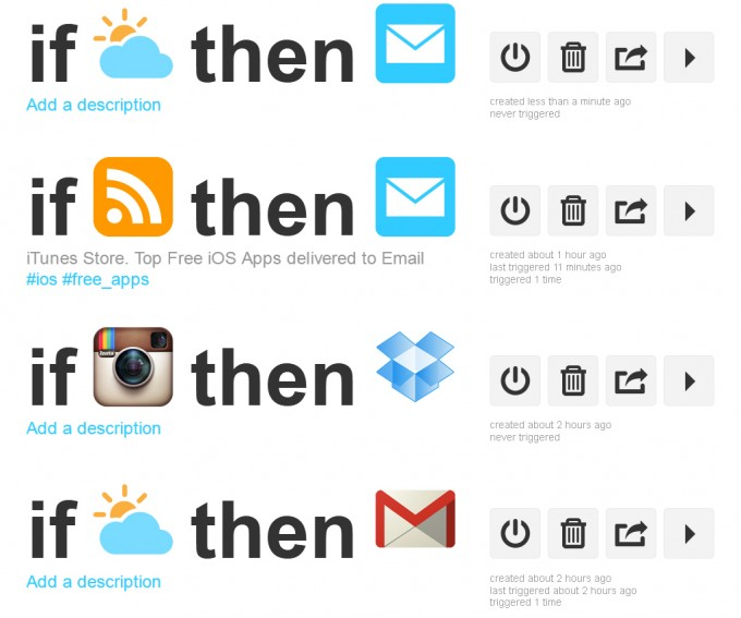 IFTTT – My Recipes
