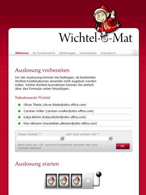 Wichtel-o-Mat – Auslosung starten