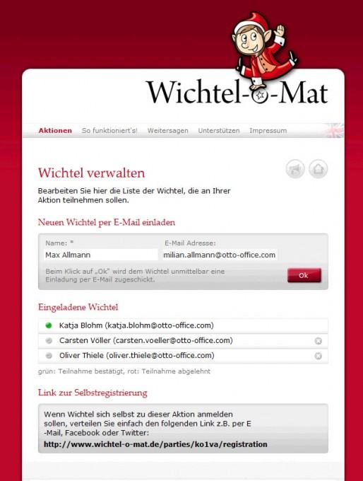 Wichtel-o-Mat – Wichtel einladen