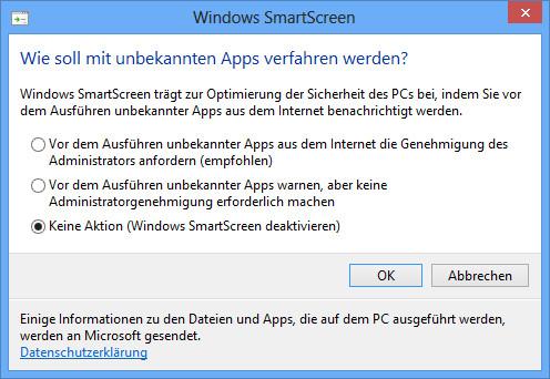 Windows8 - Smartscreen