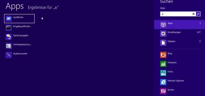 Windows8 - Suchfunktion