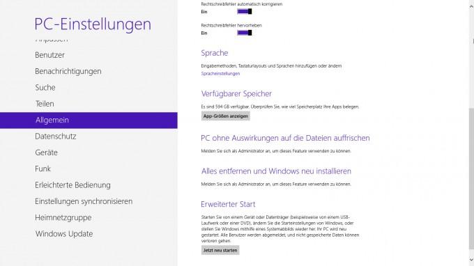 Windows8 - Systemwiederherstellung