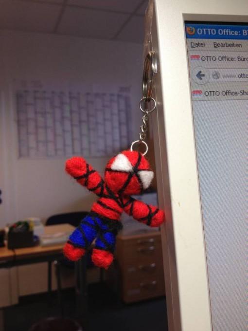 Spiderman am Arbeitsplatz