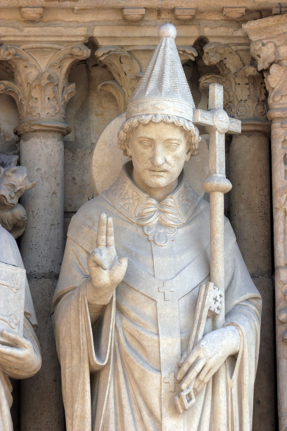 Pope Saint Sylvester, Notre Dame Cathedral, Paris