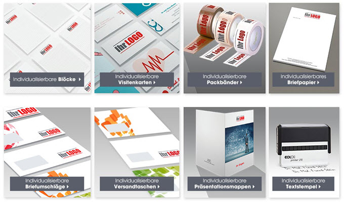 Briefpapier Gestalten : Briefpapier textstempel und co mit eigenem logo gestalten