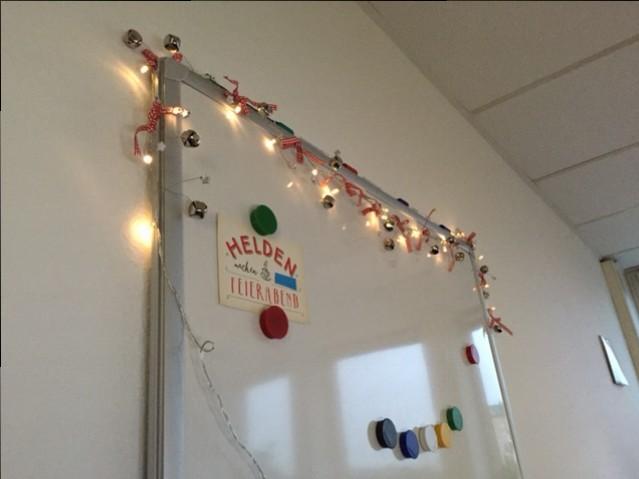 Lichterkette Büro