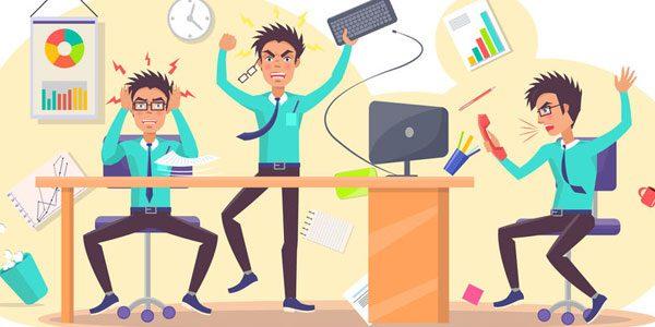 Schlechte Angewohnheiten im Büro