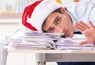 Arbeiten nach den Feiertagen