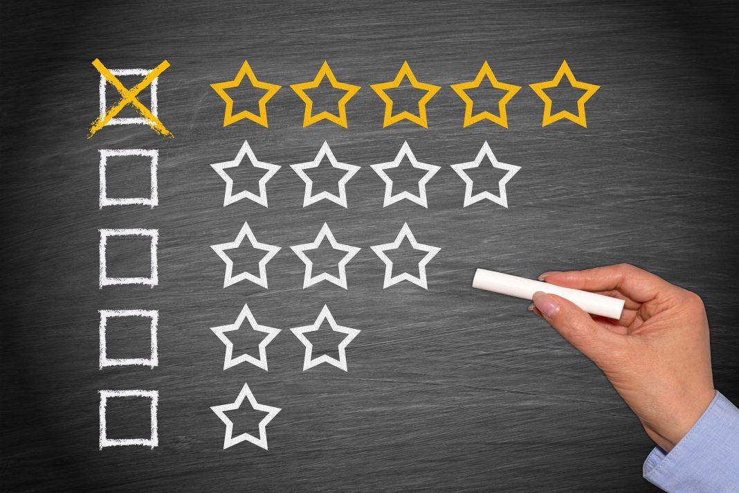 Onlinebewertung mit Sternen